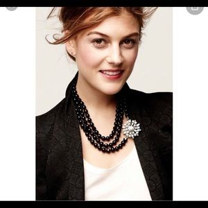 Stella & Dot La Coco Long Black Bead Necklace